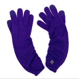 Smartwool Purple Knit Gloves